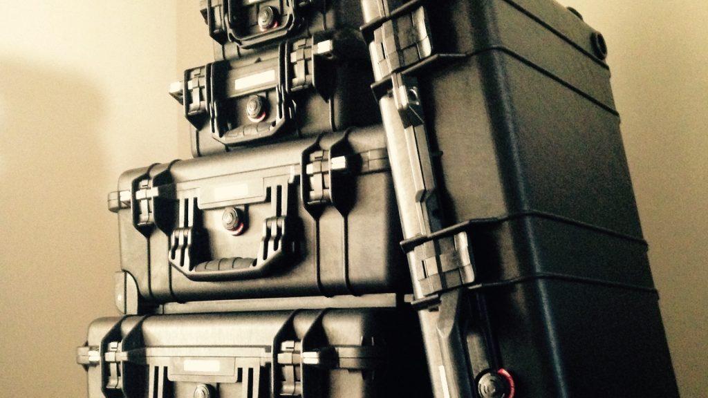 Pelicases full of Filmmaking Equipment