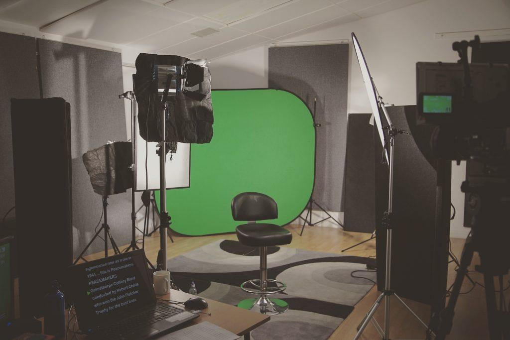 green screen setup