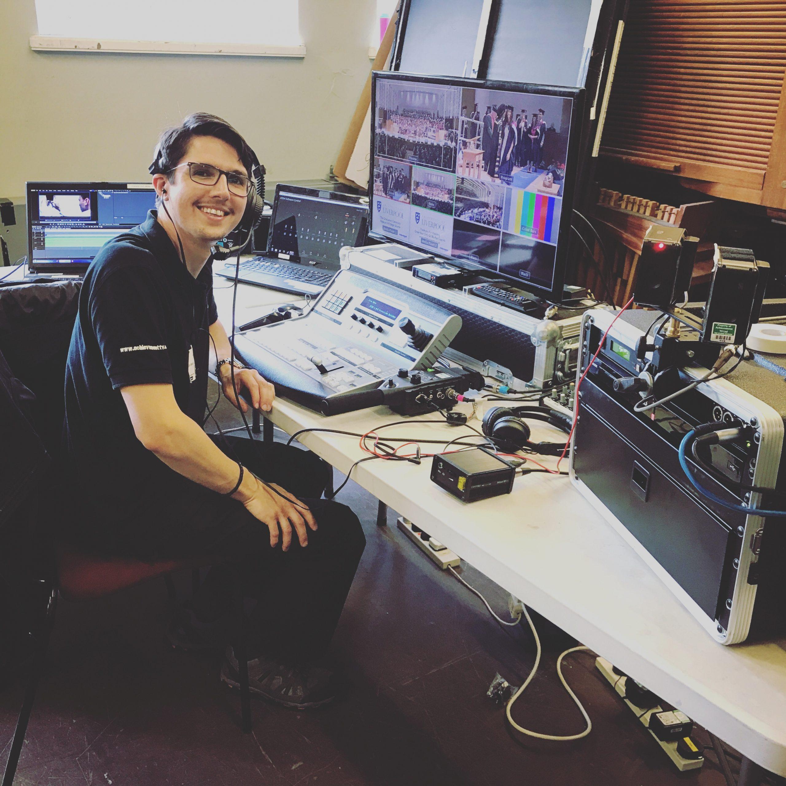 Dan at the Mixing Desk